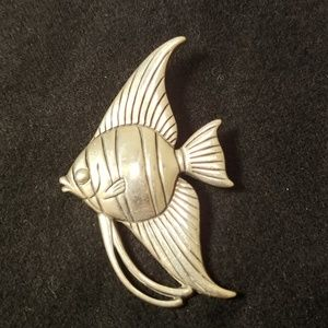 James Avery Retired Sterling Silver Fish Pin